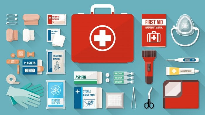 first aid kit unboxed