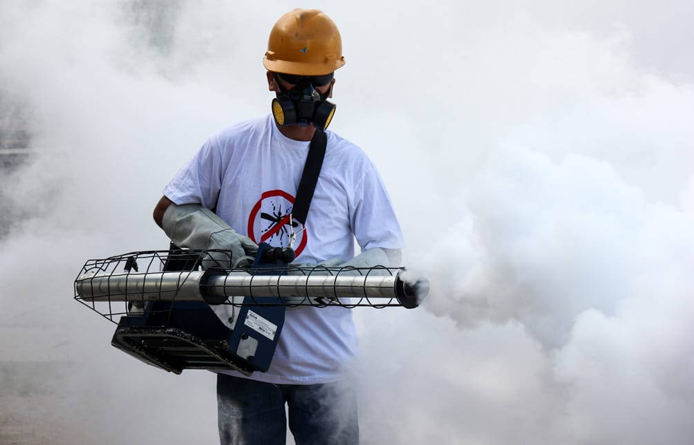 Spraying against Dengue fever
