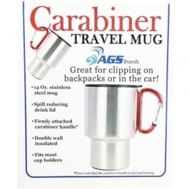 Carabiner Travel Mug Red