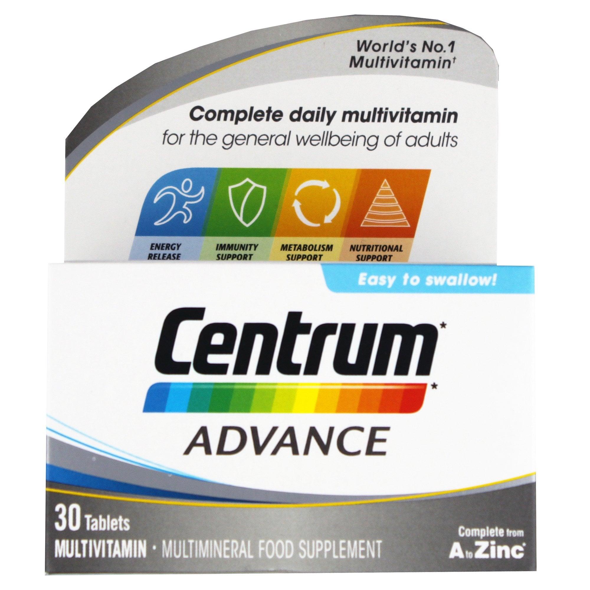 Centrum Advance Multivitamin Tablets x 30 - Medicines from ...
