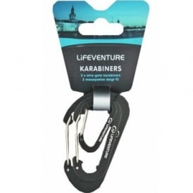 Lifeventure Karabiner Pack Of 3 (68110)