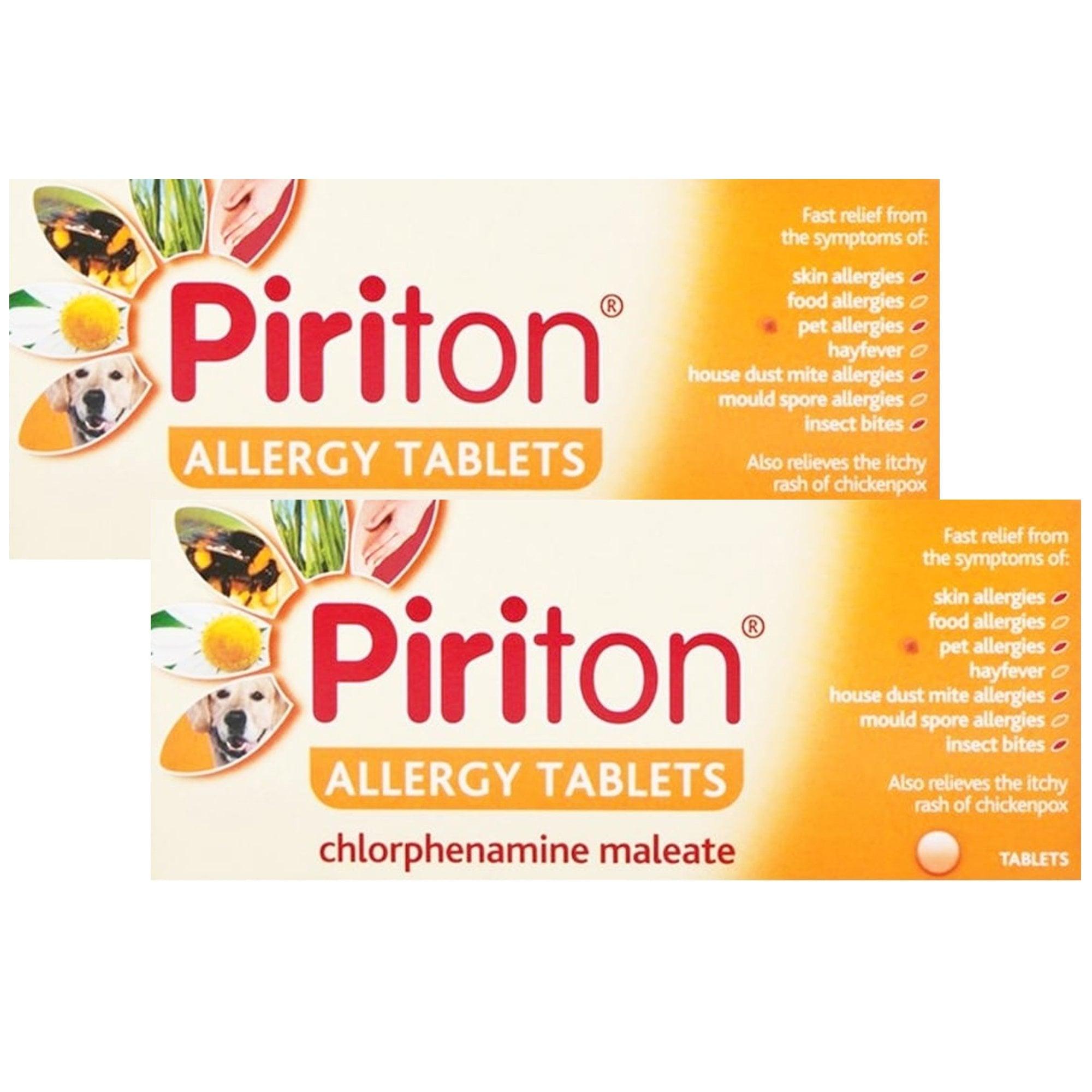Piriton Allergy Tablets 4mg | Hayfever & Allergy Treatment